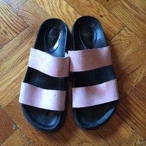 Zara strappy light pink sandals